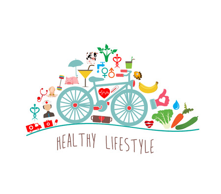 Ilustración de Healthy Lifestyle Background - Imagen libre de derechos