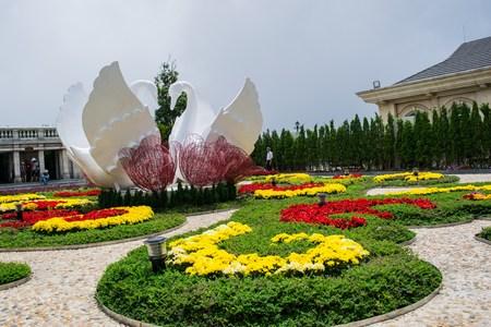 Flower garden at Ba Na Hills Da Nang Vietnam