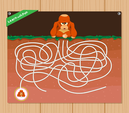 Funny maze game - beautiful educative for kid
