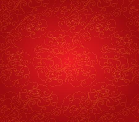 Illustration pour Oriental Chinese New Year pattern background - image libre de droit