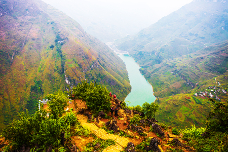 Ma Pi Leng mountain pass in Hagiang, Vietnam.