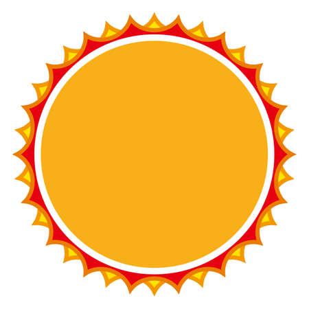 Illustration pour The sun isolated vector illustration. - image libre de droit