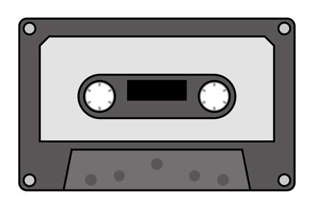 Illustration for Compact cassette tape isolated vector illustration. - Royalty Free Image