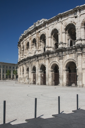 Amphitheatre in Nimes, France from Roman times