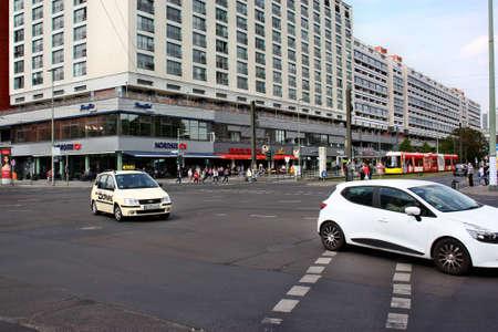 Berlin, Germany - May 18, 2015: Traffic in Berlin