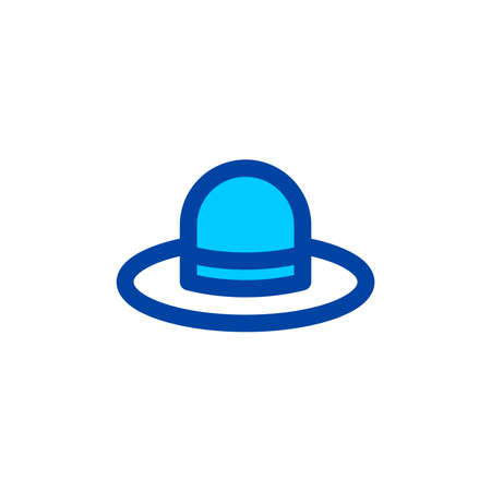 Illustration for Round hat icon in blue color style. Pixel perfect icon. Vector - Royalty Free Image