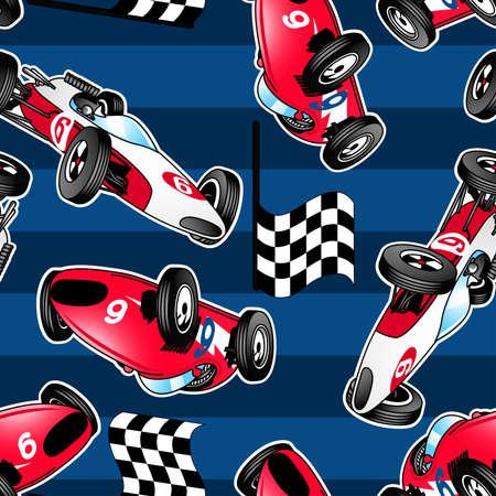 Race Car Pattern