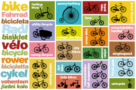 all types of bicycles