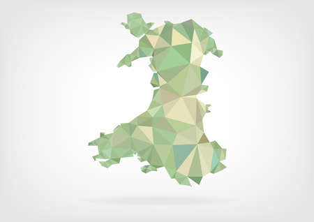 Low Poly map of Wales