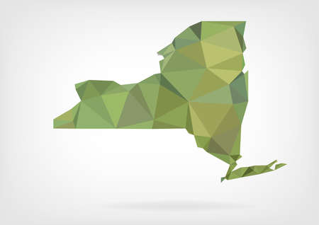 Low Poly map of New York stateの素材 [FY31035239708]