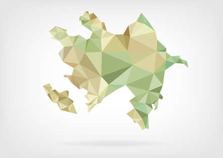 Low Poly map of Azerbaijanの素材 [FY31035383848]