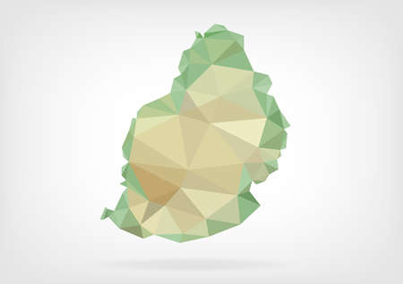Low Poly map of Mauritiusの素材 [FY31036211728]