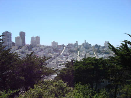 San Francisco Skyline from the Hills