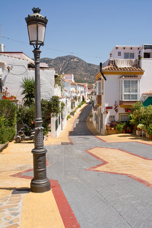 Characteristic street in the center of Benalmadena