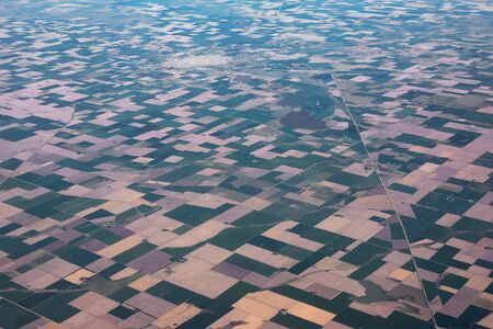 Aerial panoramic view of the square fields pattern