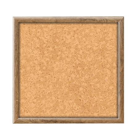 Cork Board Wooden Texture, Vector Illustration