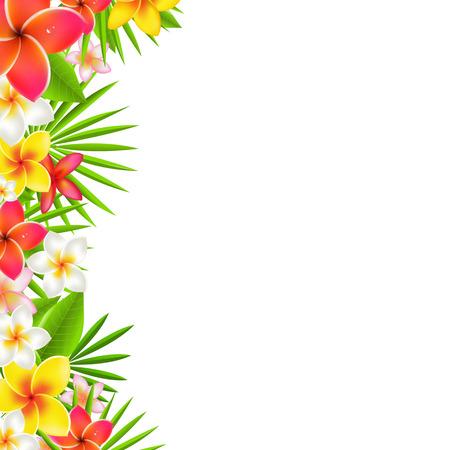 Illustration pour Flowers Border, With Gradient Mesh, Illustration - image libre de droit