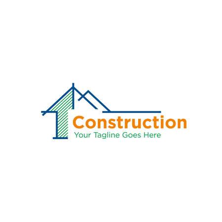 construction company logo design vector template. building company icon. architecture icon