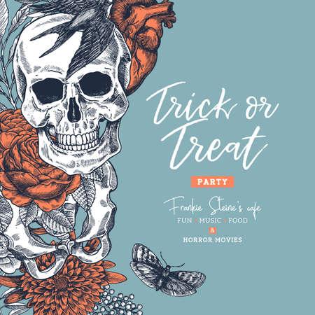 Illustration pour Halloween party design template. - image libre de droit