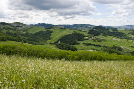 Castellarano s green hills, meadows and clouds - Appennini Modenesi -  Region of Emilia-Romagna - Northern Italy - Europe - Travel - Eco Tourism