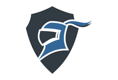 harness warriors logo icon vector vector concept flat design