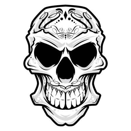 Skull head ornament