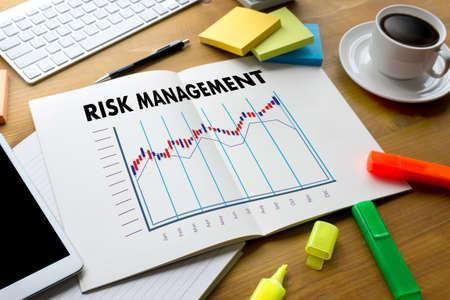 Business Concept  RISK MANAGEMENT and  Hazard Dangerous Prevent Protect Stock Market Graph Growth