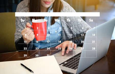 Photo pour Appointment Reminder to Calendar and Organizer Agenda - image libre de droit
