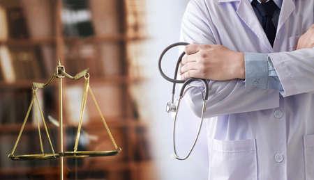 Photo pour law concept Judge law medical Pharmacy compliance Health care business rules. - image libre de droit