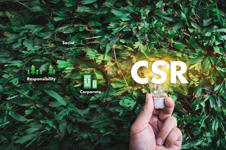 Foto de Corporate Social Responsibility CSR and Sustainability Responsible Office CSR - Imagen libre de derechos