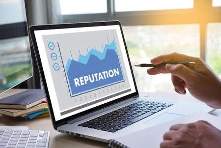 Photo pour REPUTATION Popular Ranking Honor Reputation management Branding Concept - image libre de droit