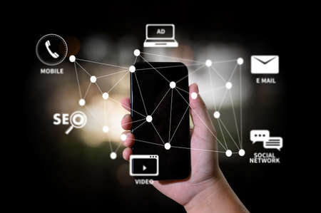 Photo pour DIGITAL MARKETING new startup project Online  Search Engine Optimisation - image libre de droit