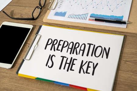 Photo pour BE PREPARED and PREPARATION IS THE KEY plan - image libre de droit