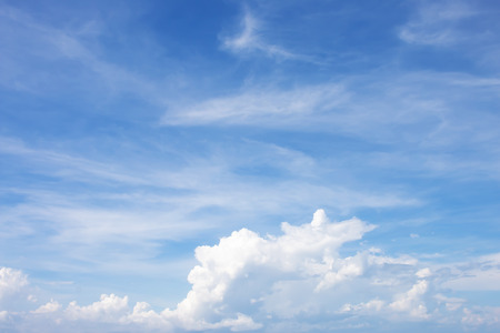 Beautiful white clouds in the sky
