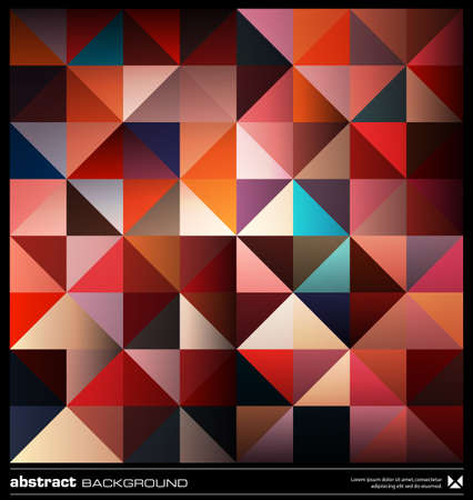 Illustration for Triangles  background design template. Colorful pattern. Abstract modern mosaic seamless pattern. Retro poster, card,flyer or cover template. - Royalty Free Image