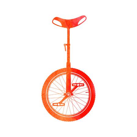Color monocycle symbol.