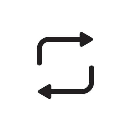Illustration pour rotation arrows exchange symbol vector - image libre de droit