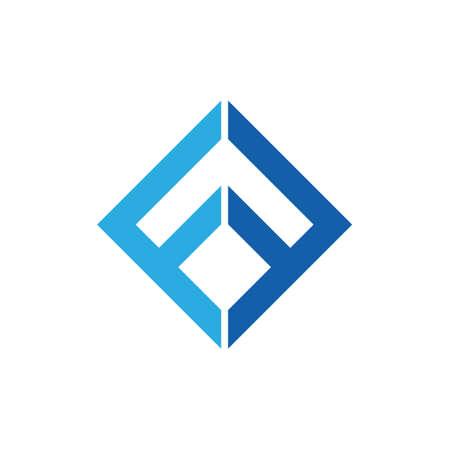 Illustration pour letter ff square geometric line logo vector - image libre de droit