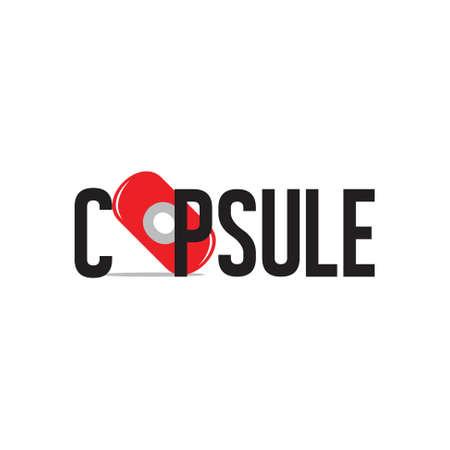 Illustration pour capsule text symbol logo vector - image libre de droit