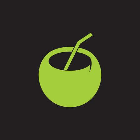 Illustration pour coconut drink symbol decoration vector - image libre de droit