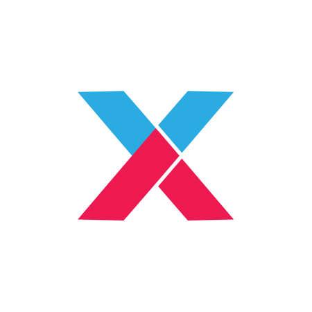 Illustration pour letter x geometric arrow dynamic logo vector - image libre de droit