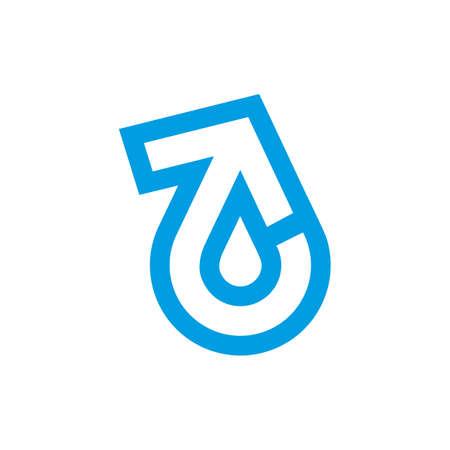 Illustration pour refresh arrow drop blue water simple logo vector - image libre de droit