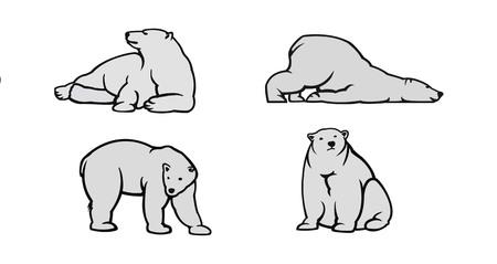 Ilustración de White Polar bear icons - vector illustration for you. - Imagen libre de derechos