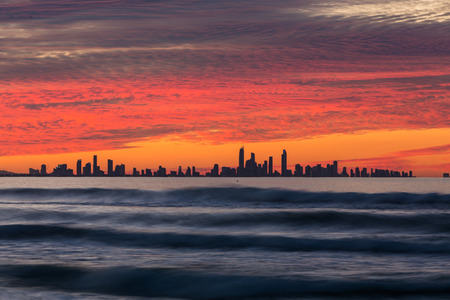 Sunset over Gold Coast, Queensland, Australia