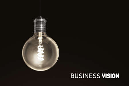 Photo for Business Vision, light bulb concept solution - Royalty Free Image