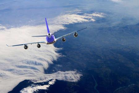 Photo pour Plane flight, Sky - image libre de droit