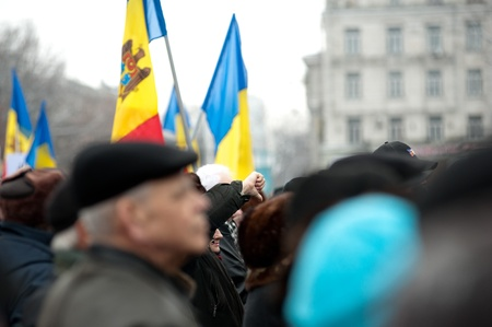 Approximatively 1-2 thousand people have gathered in the National Square from Chisinau (Moldova) to protest against the current administration. The people have come from different parts of the country at the initiative of Iurie Rosca, the leader of Popula