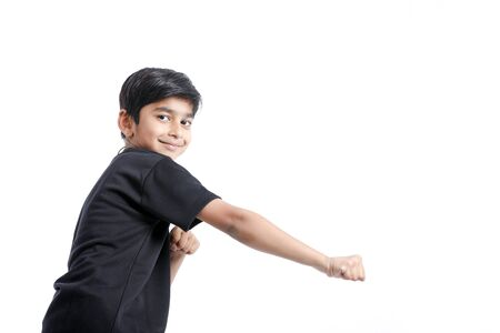 Foto de Cute Indian little boy playing , running and giving multiple expression - Imagen libre de derechos
