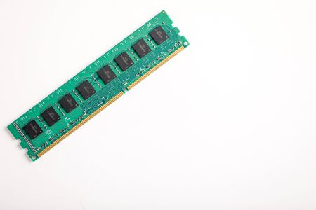 Foto de Ddr ram memory isolated on white background - Imagen libre de derechos
