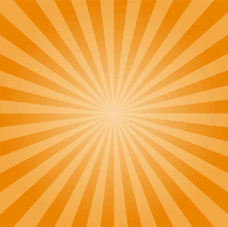 Illustration for Sunburst yellow vector background, texture sun flat backdrop. - Royalty Free Image